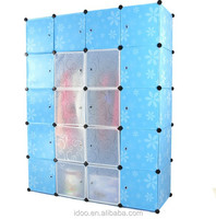 Easy assemble panel 20 cube organizer wardrobe, each cube stands for 10-15kgs cloth cabinets furniture(FH-AL0069-20)