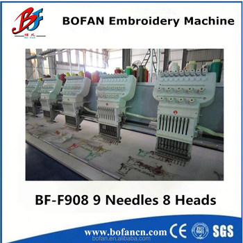 Industrial 8 Head Flat Embroidery Machine For Digitizing Jobs Buy