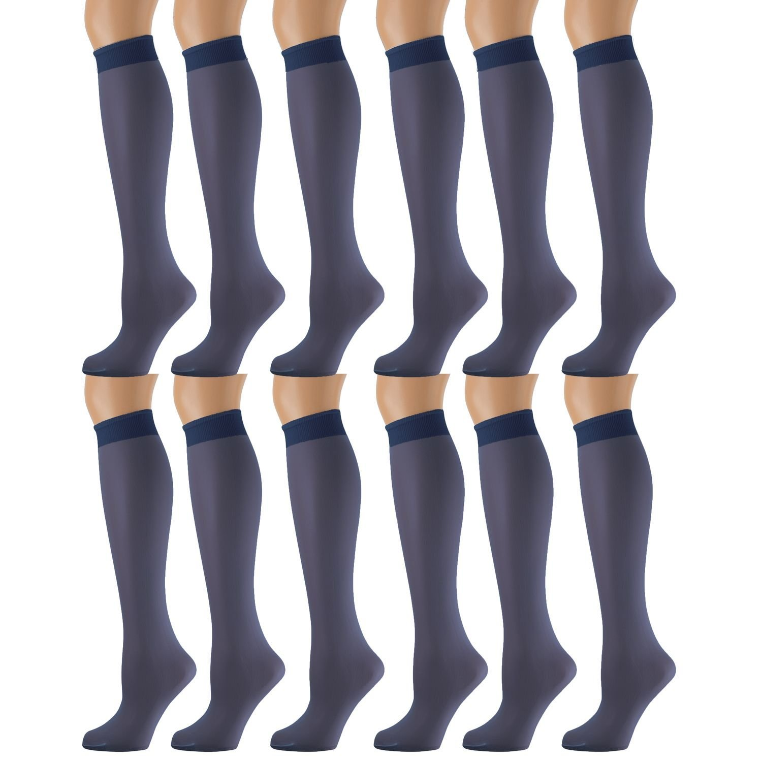 f00e025bad8 Get Quotations · 12 Pairs of excell Sheer Trouser Socks for Women