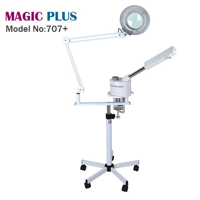 Facial 2 in 1 Spa UV Ozone Steamer Salon Magnifying Light Lamp Spray Vapor