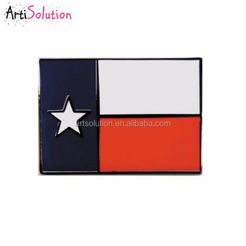 Superior Hot Selling Custom Metal Enamel USA TEXAS Flag Lapel Pin Badge Tie Pin