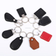 Door Access Control 125khz key fob RFID leather Keychain EM 4305/TK4100 with emboss logo