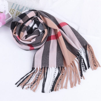 2018 Hot Selling Winter Warm Women Plaid Infinity Scarf