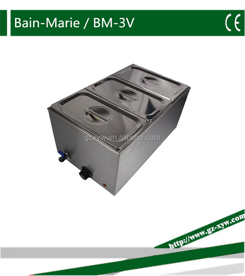 Stainless Steel Electric Bain-Marie Soup pot Food warmer Buffet