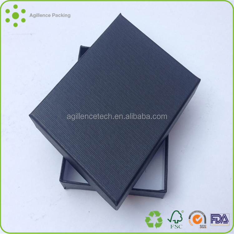 2015 Fashion Customize High Compete Navy Blue Kraft Paper Material Folding Jewelry Boxes