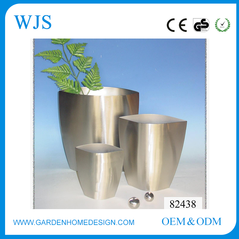 By OEM provider zinc clear metal outdoor planter