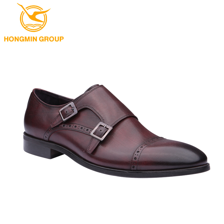 New All Real Leather Fashion Man Monk