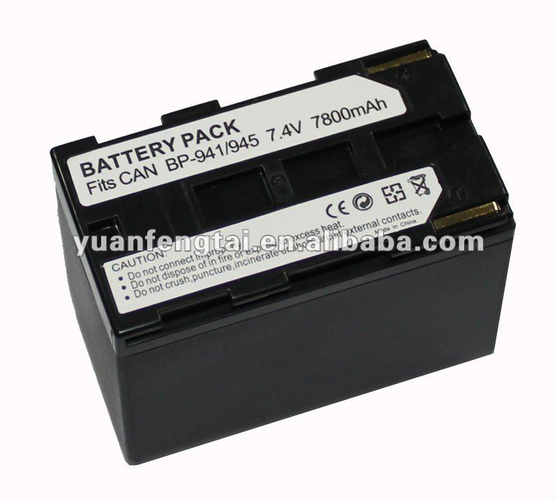 battery for digital camera For BP-941/945 canon