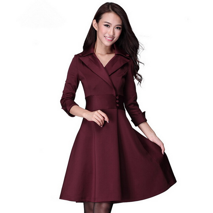 Free Shipping!2014 autumn winter Korean style women clothing long sleeve elegant slim women dress casual dresses,3colors