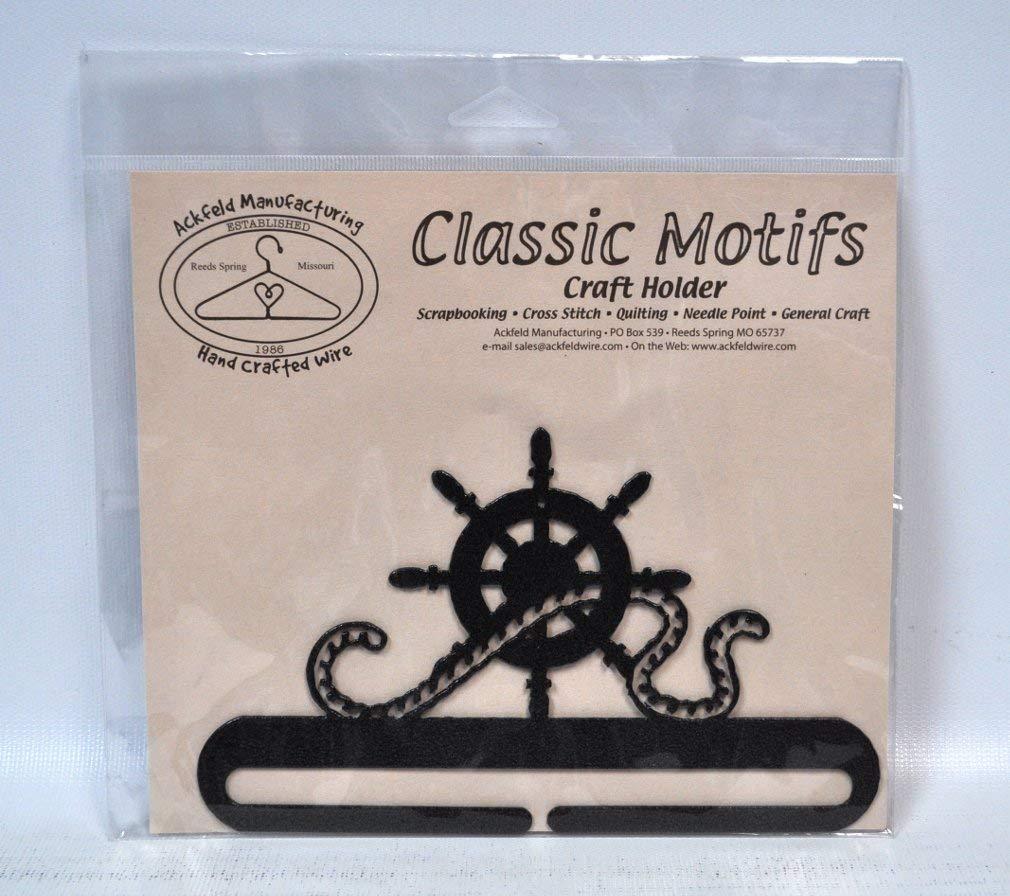 Classic Motifs 6 Inch Ships Wheel Craft Holder