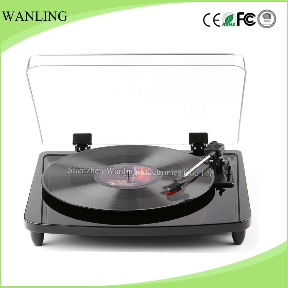 Best selling Lp Piano painting retro record player vinyl turntable