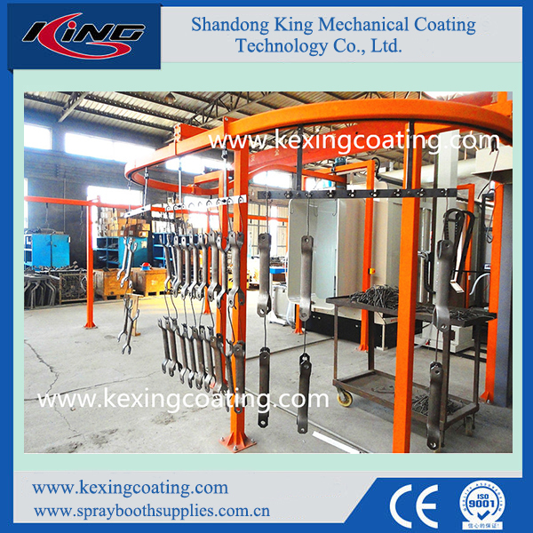 CE Approved Compact Automatic Powder Coating Line for Sale
