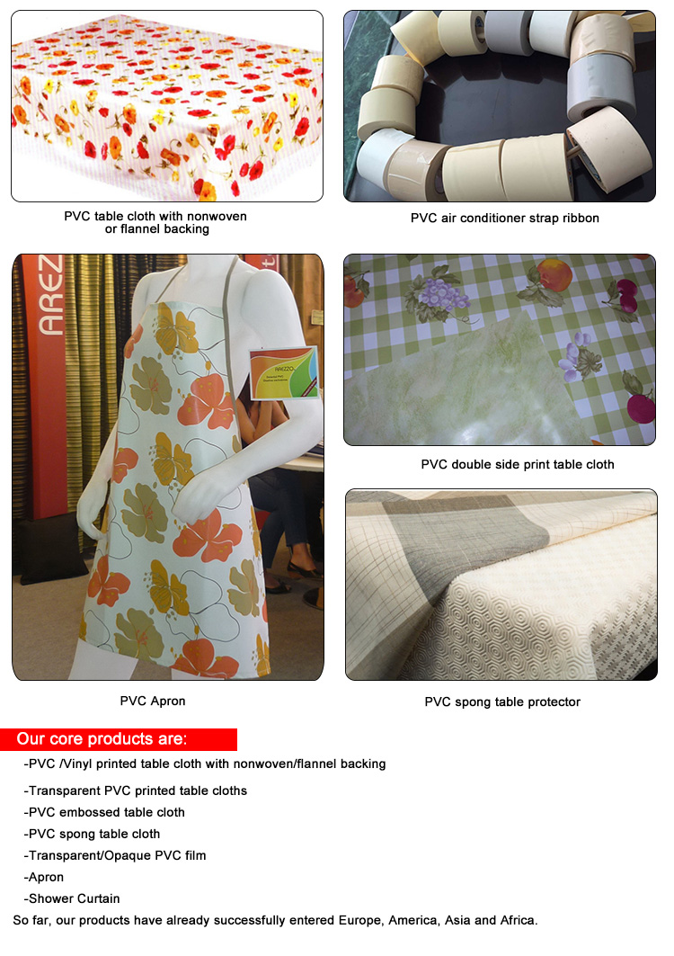 Foshan Richfield New design pvc printed Flower Fruit vinyl tablecloth table cover, Plastic pvc table cloth, oilcloth