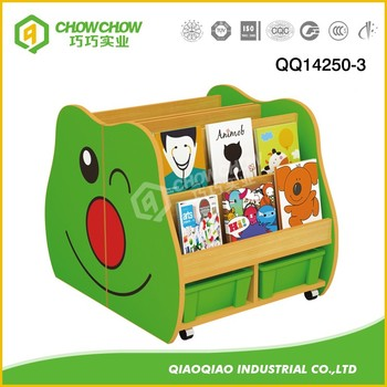 Kids Furniture Wooden Bookshelf For School Cute Worm Bookcase