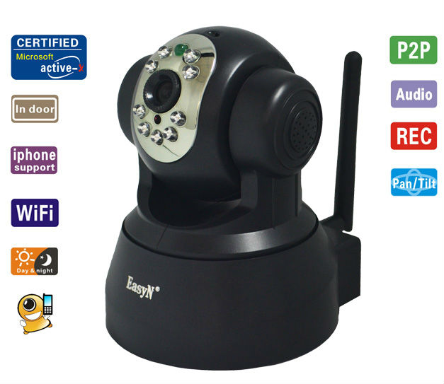 Smallest wireless Home security Low Cost Wifi Auto Motion Tracking IP Camera