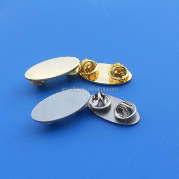 0be53c3fb81 Metal Blank Lapel Pin, Custom Laser Engraved Company Logo Butterfly Clutch Brooch  Pin Badge,
