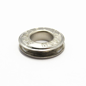 20mm Plating Engrave Logo Eyelets Curtains With Washer