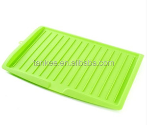 Kitchen Storage Plastic Dish Plate Drainer Drying Tray Board Cutlery Rack Holder