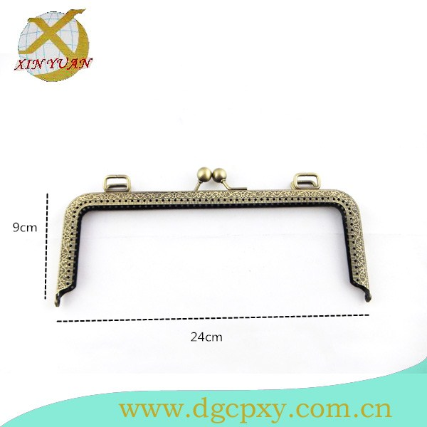 24*9cm  Antique Brass Metal Purse Frame  Accessories Bag Making