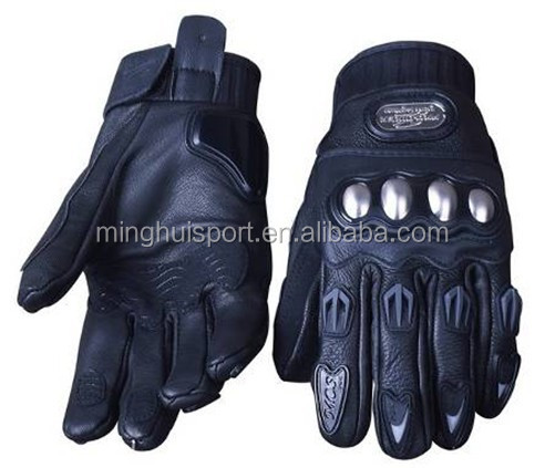 Men Motorcycle goat Leather gloves protective gloves racing waterproof windproof protective gloves