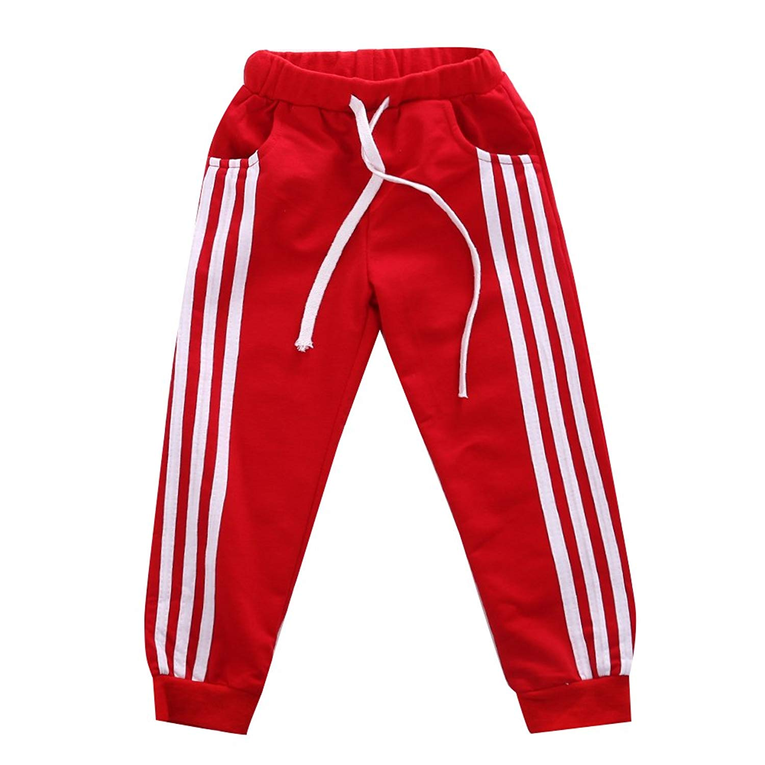 ba5cd928ad Get Quotations · GOODBEE Kids Boys Cotton Casual Tracksuit Bottoms Sports  Exercise Fitness Jogging Pants