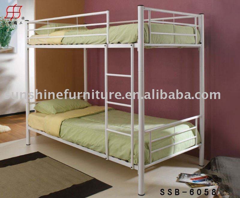 Mordern de metal ni os adultos cama litera camas de metal - Literas para adultos ...