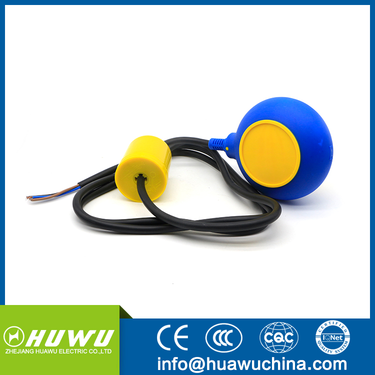 Electrical water tank fuel tank level control float switch