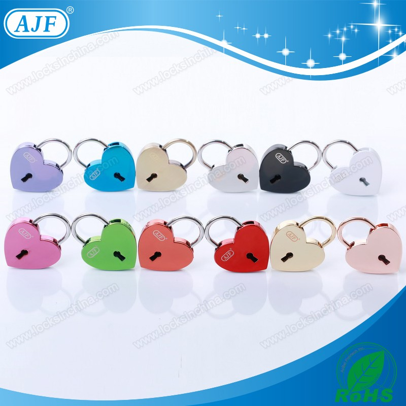 AJF colorful whosale wooden small box mini metal lock or handbag key lock