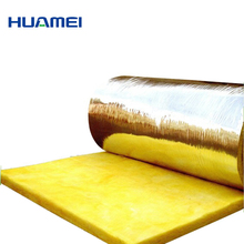 Fireproof aluminum foil glass wool rolls/blanket thermal insulation