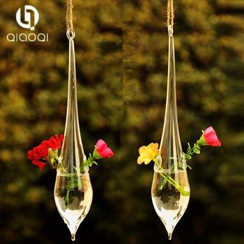 Teardrop Crystal Glass Flower Vase Glass Terrarium Hydroponics