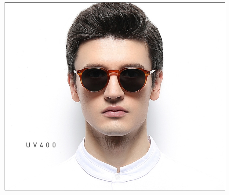Wholesale Unisex Acetate Sunglasses Men Travel Round Sun Glasses For Driving Shades Fishing Eyewear