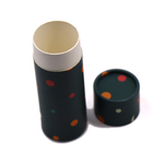 Wholesale customized gift box black paper tube white paper boxes for liquid bottles packaging