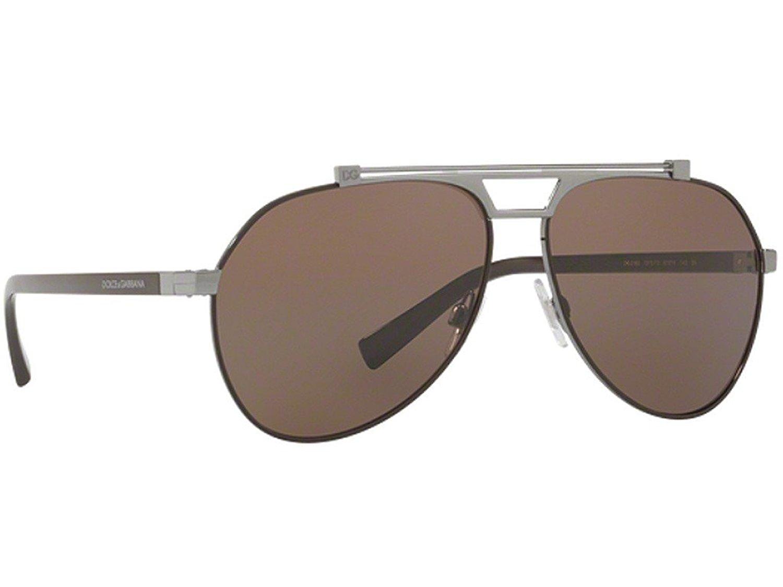 fae902019ff3 Get Quotations · Dolce and Gabbana DG2189 131573 Matte Brown Gun DG2189  Pilot Sunglasses Lens