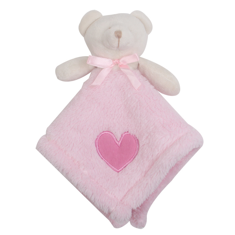 Plush animal Towel Plush Baby Comforter Baby Comforter Toys With Teddy Bear Head