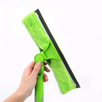 Clean glass long handle squegee green cleaner telescopic window cleaning brush