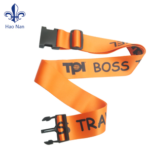 Wholesale custom elastic luggage strap with plastic buckle
