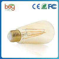 ST64 6W 8W LED Filament Bulb 600LM Equivalent to 50w Incandescent Bulbs Soft Warm 85-265V E26 Base ST64