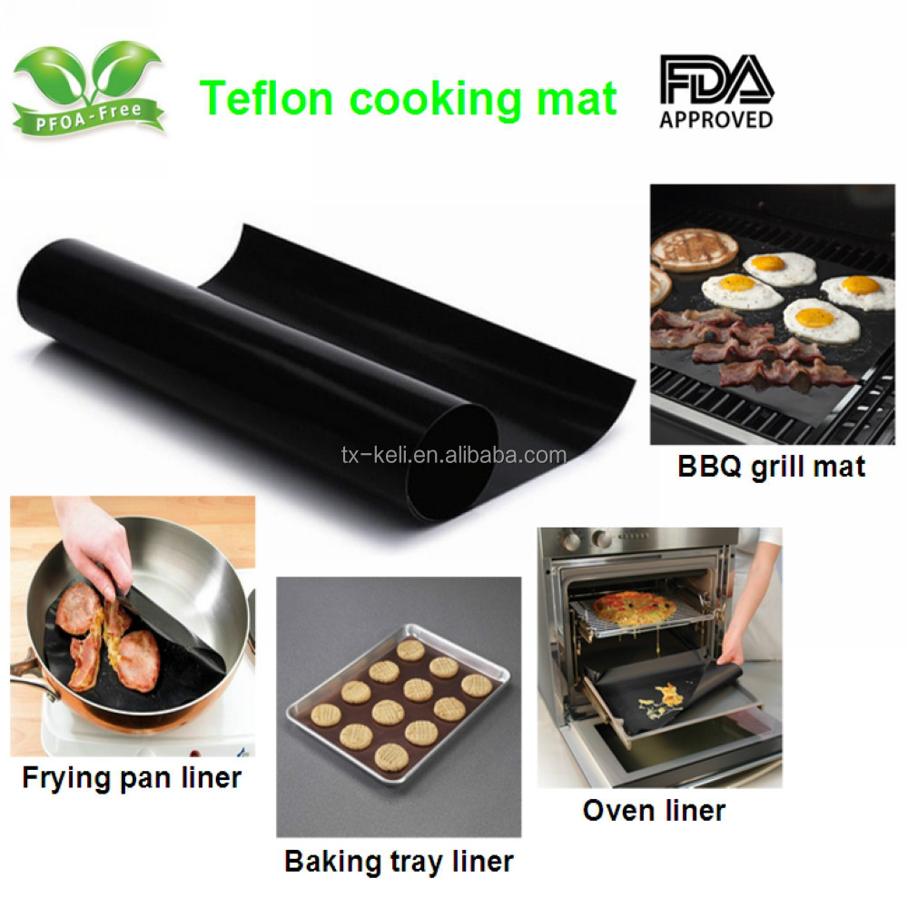 Food-grade Non-stick PTFE Cooking Mat for BBQ grill, oven, microwave, frying pan