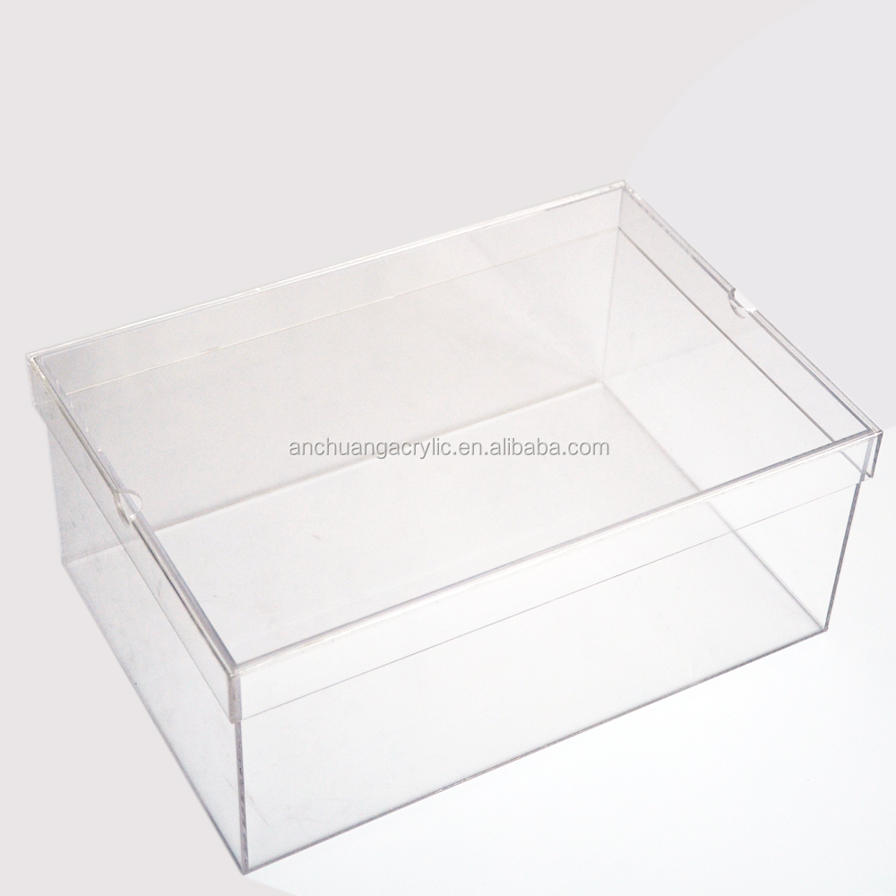 Acrylic Shoe Boxes : Transparent acrylic nike shoe box buy clear