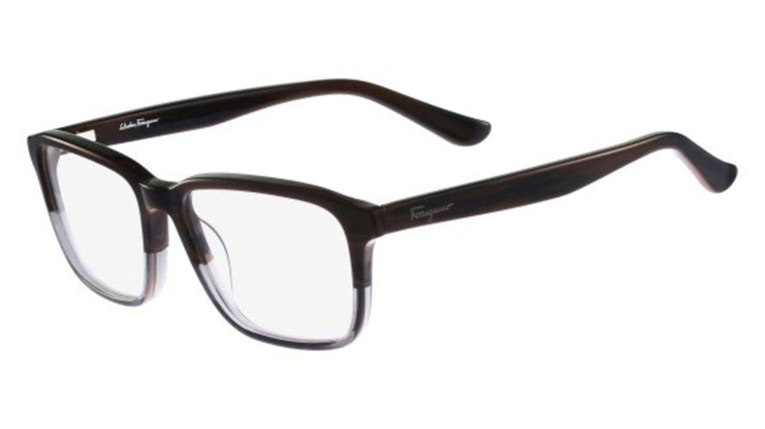 Eyeglasses FERRAGAMO SF2738 205 DARK BROWN HORN GREY