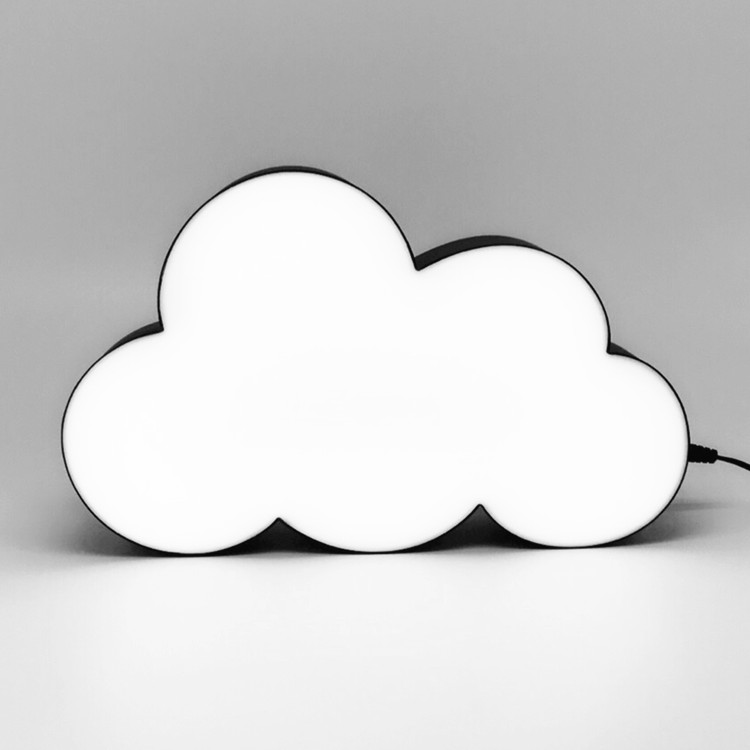 DIY Message Display Cloud Shaped Decorative LED Night Light