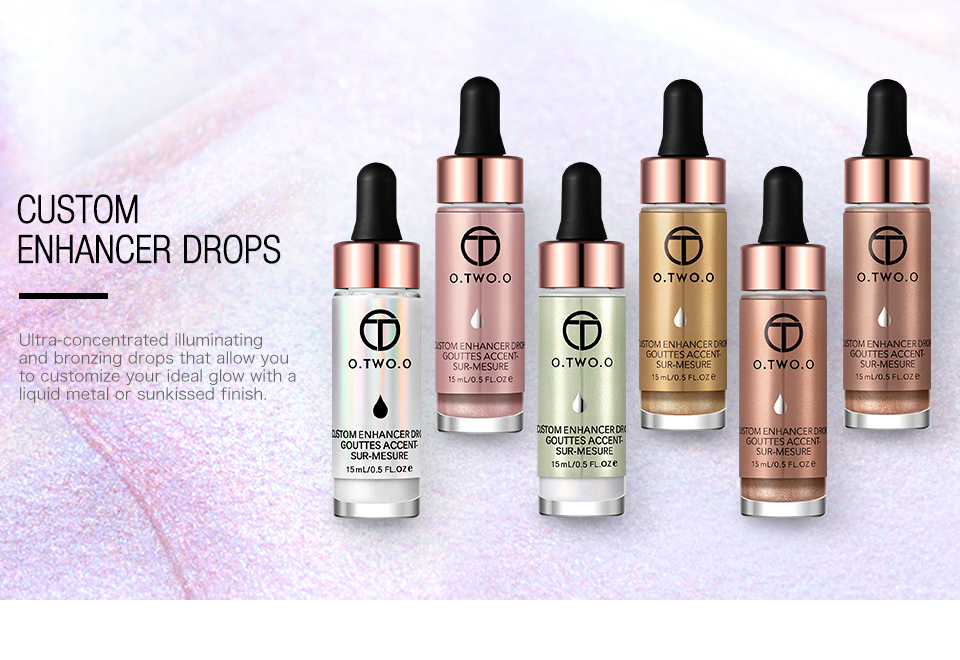 O.TWO.O Best selling new design liquid shimmer highlighter makeup