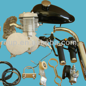 2 stroke 80cc gas bicycle engine kit for Motorized Bicycle silver Body