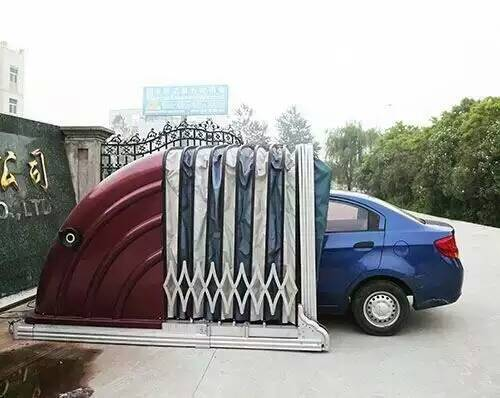Retractable Car Shelter : Solar powered retractable car garage with high quality