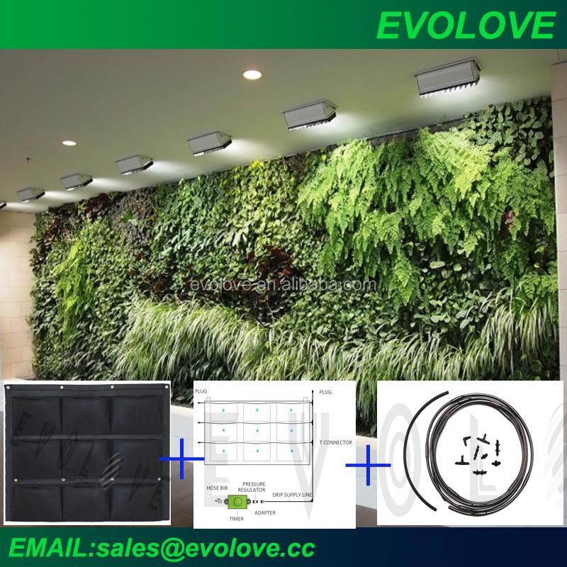Sistema de auto riego huerto vertical maceteros para for Sistema de riego jardin vertical