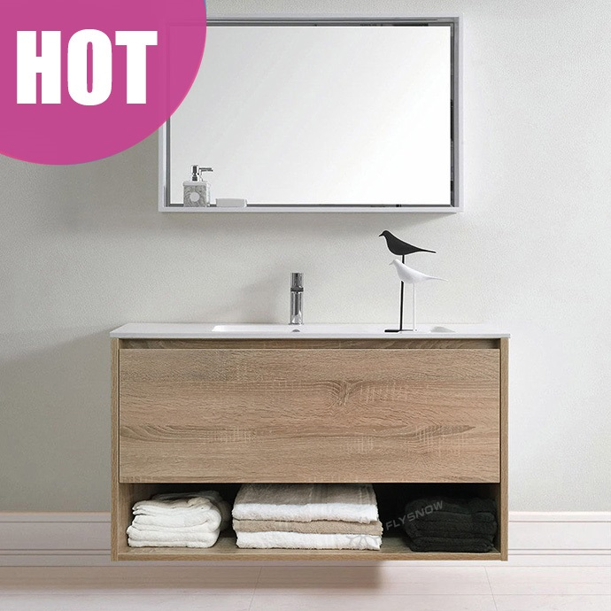 Quality Bathroom Mirror Cabinets counter wash basin wooden bathroom mirror cabinet with high