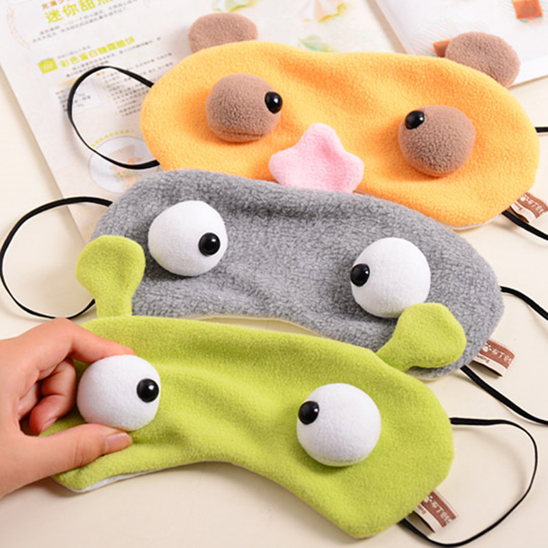 2017 Online wholesale custom kids 3D large-eye cartoon cute sleeping eyes patch baby eye mask