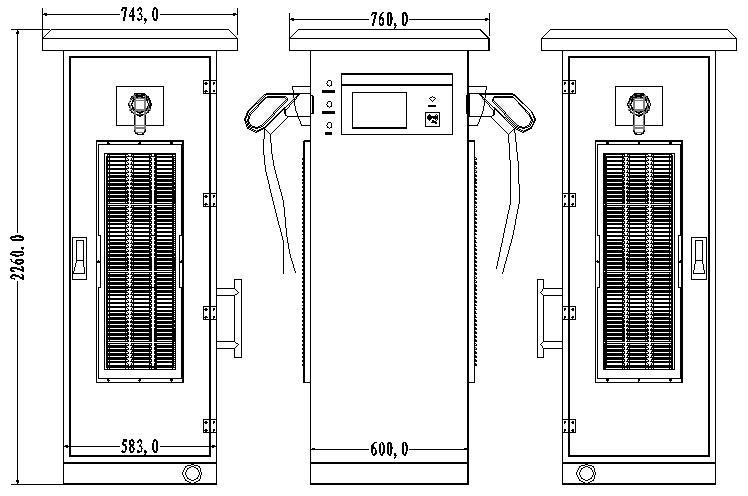Solar EV Charging Station for Electric Car 50KW