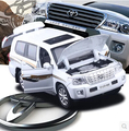 New LC200 Toyota Land Cruiser 1 32 alloy car model pull back sound light kids toy