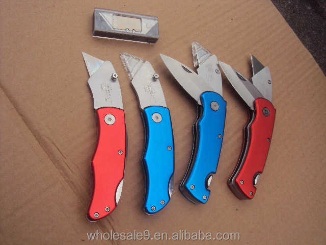 Aluminum Alloy Handle and stainless steel folding Utility Knife single Blade doule Blade